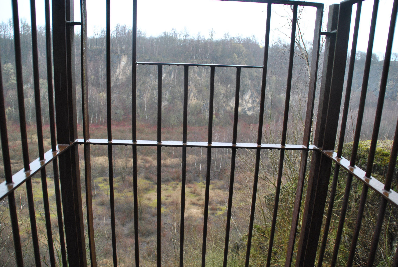 Am Ende des Zeittunnels ist ein Blick in den Bochumer Bruch möglich. Foto: TME