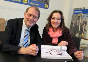 FDP-Fraktionschef Klaus Müller und Ortsverbandsvorsitzende Andrea Metz. Foto: Archiv