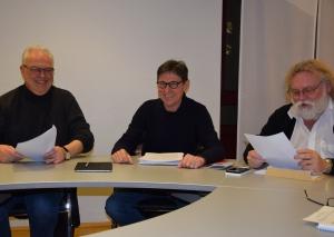 (v.l.) Wolfgang Preuß, Manfred Hoffmann und Axel C. Welp. Foto: TME