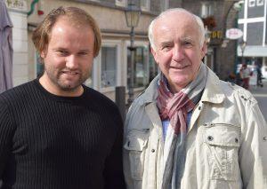 Sebastian Saufhaus und und FCW-Präsident Michael Massenberg. Foto: TME