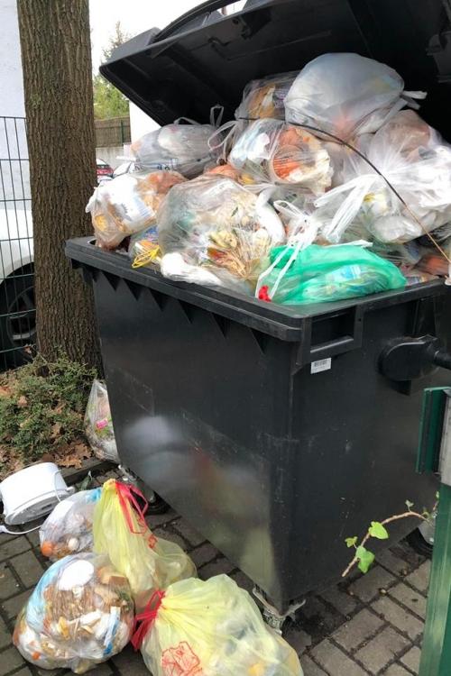 Zu viel Müll, zu wenig Tonnenkapazität. Foto: privat