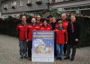 Das Team Blotschenmarkt mit Gregor Jeken, Geschäftsführer von Hauptsponsor Neanderenergie. Foto: TME