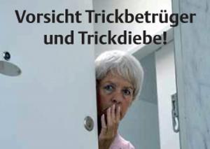 Warnung vor Trickbetrügern und -dieben an der Haustüre. Symbolbild: Kreispolizeibehörde