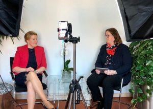 Kerstin Griese (r.) und Ministerin Giffey. Foto: Büro Griese