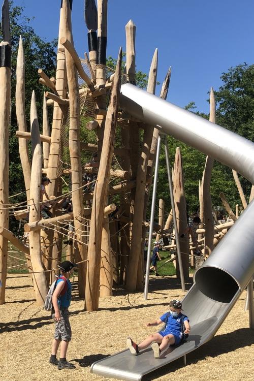 Der SteinDer Steinzeitspielplatz im Neandertal. Foto: TMEzeitspielplatz im Neandertal. Foto: TME