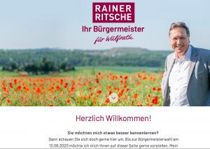 Die Homepage von Rainer Ritsche ist am Start. Screenshot: TME