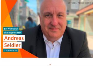 Andreas Seidler hat seine Homepage freigeschaltet. Screenshot: TME