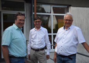 Bürgermeister-Kandiat Rainer Ritsche, SPD-Fraktionsvorsitzender Manfred Hoffmann und Ortsvereins-Vorsitzender Wolfgang Preuß. Foto: TME