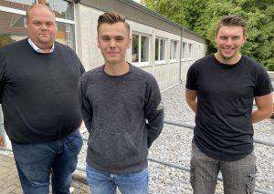 Die WG setzt mehr auch auf jüngere Kandidaten (v.l.): Max Schultheiß, Moritz Zur und Felix Rauch. Foto: TME