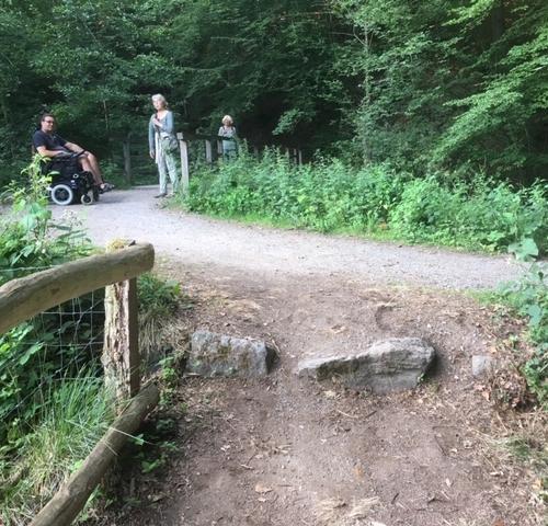 Für Fußgänger und Radfahrer kein Problem, für Rollstuhlfahrer ein unüberwindbares Hindernis. Foto: privat