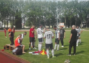 Die ASV-Mannschaft beim Auswärtsspiel in Düsseldorf / Foto TME