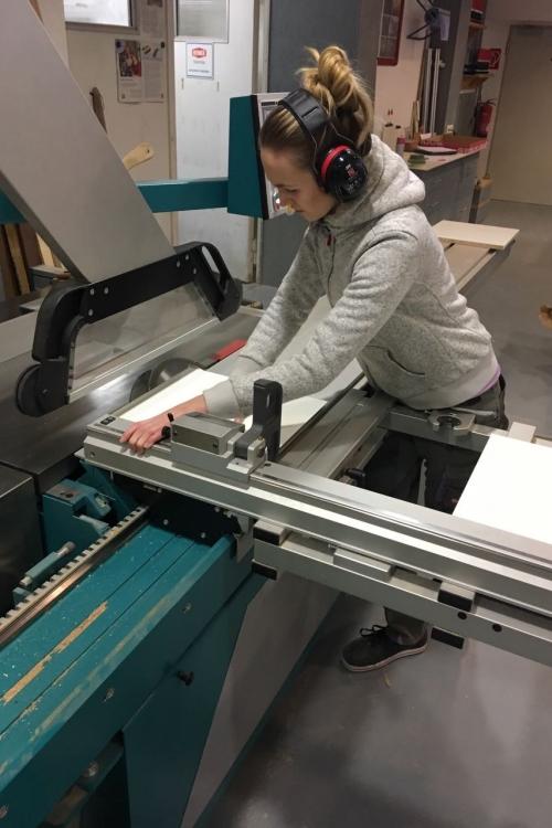 Annika Zeller in der Werkstatt. Foto: privat