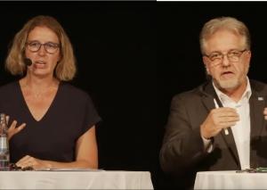 Sandra Pietschmann und Thomas Dinkelmann gehen in die Stichwahl. Foto: Screenshot / Fotomontage