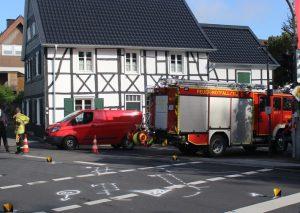 Übersichtsaufnahme der Unfallstelle in Düssel. Foto: KPB Mettmann