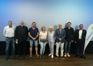 Das Präsidium von ME-Sport. Präsidentin ist Wilma Rohde (5.v.l.). Foto: Verein