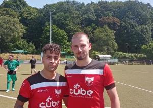 Mohammad Sreij (l.) erzielte zwei Tore, Fabian Helmes (r.) die Führung und bereitete zwei Tore vor / Foto TME