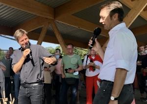 Robert Habeck im Gespräch mit Roland Schüren (r.). Foto: TME