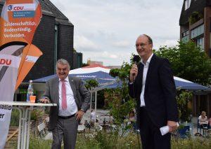 Hubert Reul und Klaus Wiener im Wahlkampfmodus. Foto: CDU