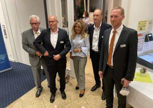 Stippvisite: Gerade einmal fünf Minuten waren die CDU-Granden im Kreishaus (v.l.): Thomas Hendele, Peter Beyer, Michaela Noll, Dr. Klaus Wiener und Jan Heinisch. Foto: TME