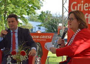 Kerstin Griese hat mit Huberts Heil getalkt. Foto: Büro Griese