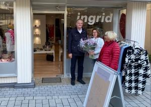 Wirtschaftsförderer Stephan Reichstein begrüßte Ingrid Netzsch. Foto: Stadt Mettmann