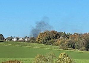 Weithin sichtbar waren die Qualmwolken - hier aus Aprath. Foto: privat