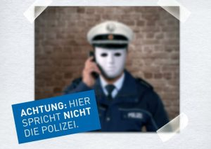 Symbolbild: Betrüger geben sich häufig als falsche Polizeibeamte aus.